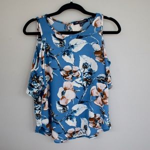 One Clothing Blue Floral Top